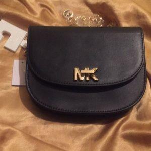 ec5f8a5e9574 MICHAEL Michael Kors Accessories - FREE SHIPPING MK BLACK TURNLOCK FANNY  PACK